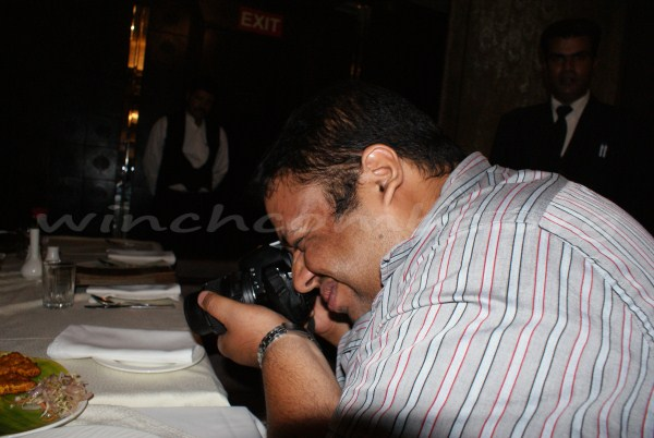 Shashank takes photos of every dishes