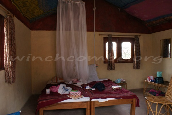 Room at Kusum's homestay in Orchha