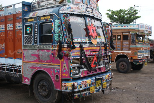 A colourful truck in India