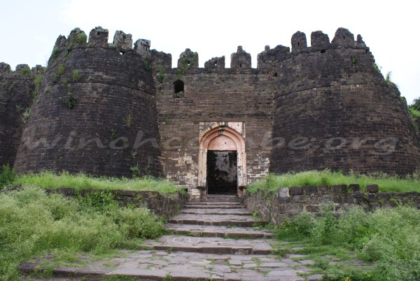 Huge gate within the fort