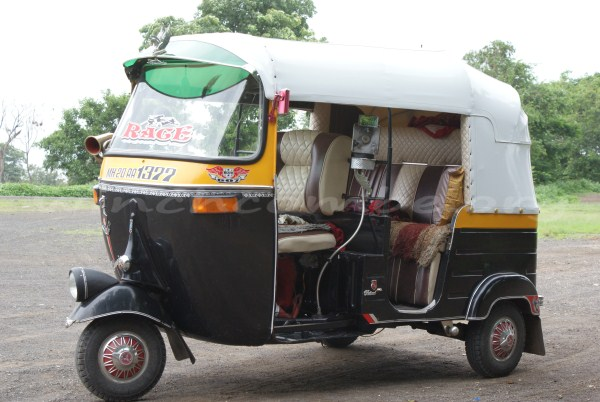A pimped up autorickshaw