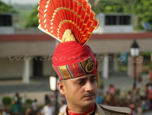 Wagah border guard